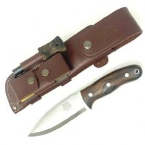 TBS Grizzly Bushcraft Survival Knife - Turkish Walnut - Full Cover Multi Carry Sheath
